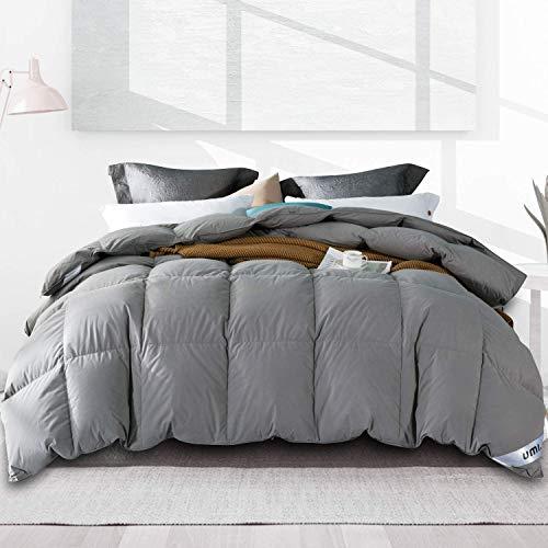 Amazon Brand - Umi Edredón de plumón de Pato 225x220cm-cama 135,Tejido 100% algodónen,100%...