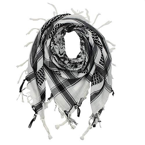 Superfreak Palituch - Camouflage-Pixel - weiß - schwarz - 100x100 cm - Pali Palästinenser Arafat Tuch - 100{1e397ba6feae195c40726ac1b7a137382e55a7548f1b9af74ef9ff2af0b78303} Baumwolle