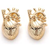 hanreshe Heart Shape Lapel Pins 2 Pieces Metal Christmas Brooch Fashion Jewelry Gift for Doctor Nurse Student Medical Jewelry Accessories
