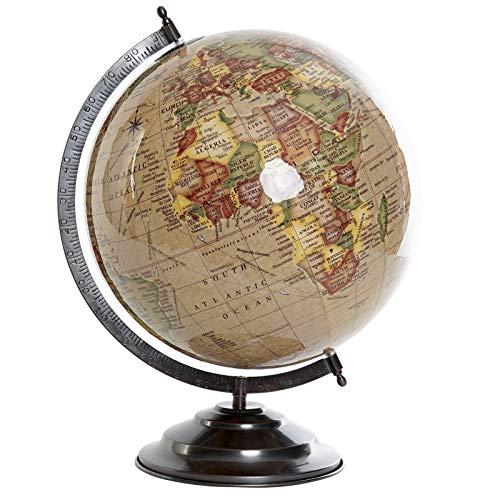 D,casa - Bola del Mundo,Terraqueo Beige 40 cm