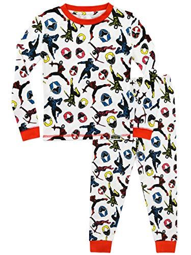 Power Rangers Jungen Ninja Steel Schlafanzug Slim Fit Weiß 134