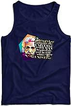 lepni.me Men's Tank Top Scientist Physics Albert Einstein Human Stupidity Sarcastic Quote