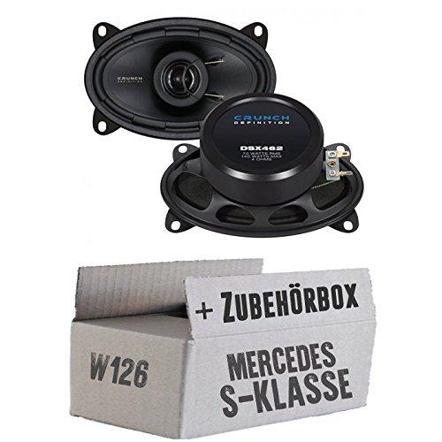 lassse Front Heck - Crunch DSX462-4x6 Koax-System - Einbauset für Mercedes W126 S- JUST SOUND best choice for caraudio