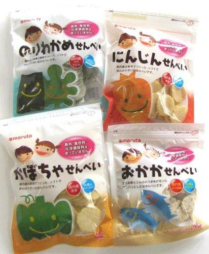 MSせんべいセット( のりわかめ1個・にんじん1個・かぼちゃ1個・おかか1個)