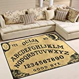 Ouija Board Area Rug 5'x 7', Educational Polyester Area Rug Mat for Living Dining Dorm Room Bedroom Home Decorative