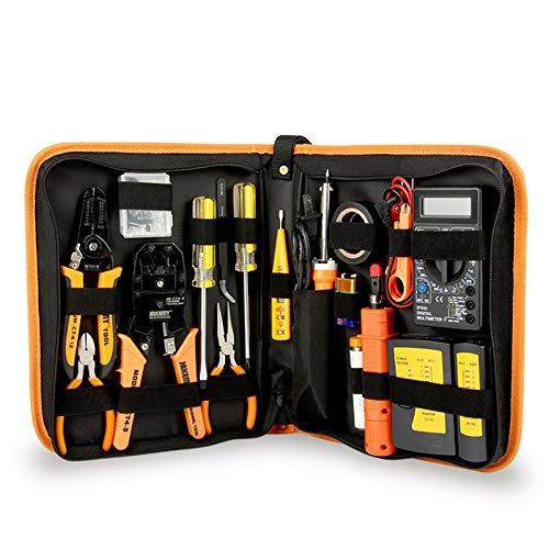 SISHUINIANHUA 17 in 1 Handwerkzeugset Elektronische Wartung Reparatur Werkzeugset Elektrischer Lötkolben Kit Zange Pinzette Digitalmultimeter Set