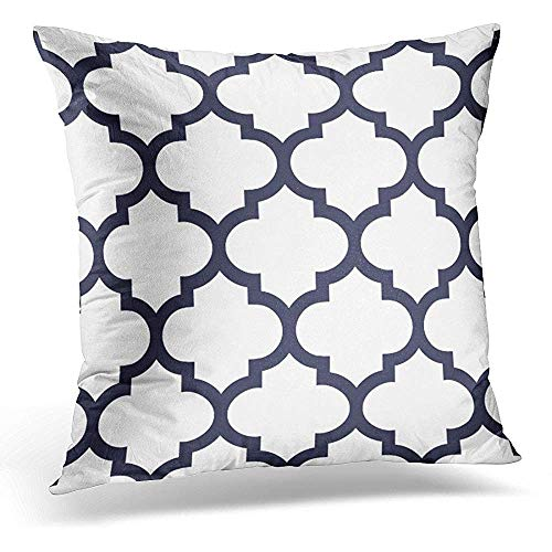 Moily Fayshow Cushion Covers Colorful Moroccan Quatrefoil Navy Trellis Decorative Pillow Case Home Decor 45 X 45 Cm Pillowcase