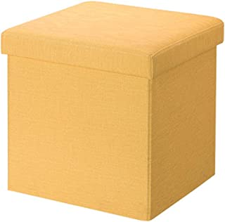 QFdd Banc De Rangement pour Canapé Tissu en Lin Cube Caisses Pliables,Boîte Peu Encombrante Vêtements Livres Jouets Articl...
