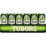 24 latas de 0,5 L Tuborg Pilsener de Dinamarca 4,9% Vol.-_ EINWEG