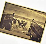 Weltkrieg Normandie Landung Vintage Papier Retro Poster