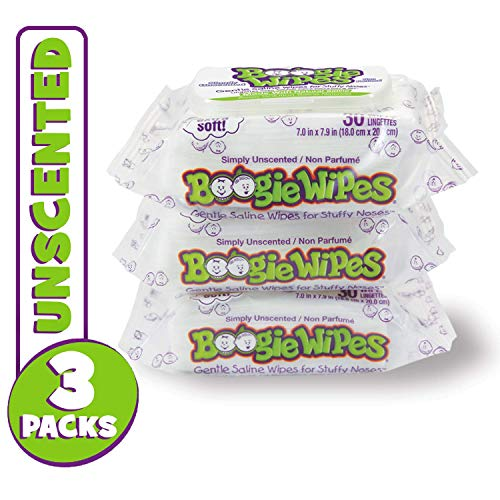 Boogie Wipes, Unscented Wet Wipes for Baby and Kids, Nose, Face, Hand and Body,...