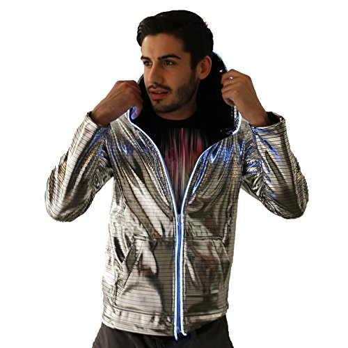 Electric Styles Light Up Astrohoodie (Small, Gold)