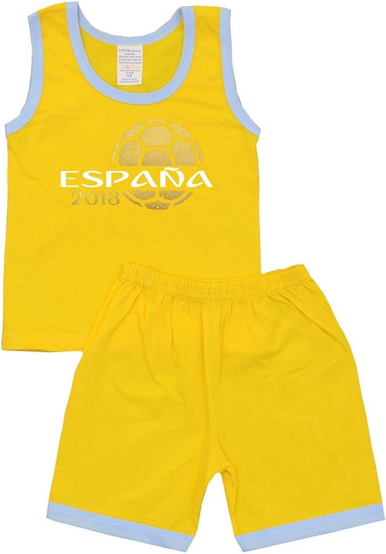 Pam GM Little Boys Soccer Shorts Set World Cup Spain 2018