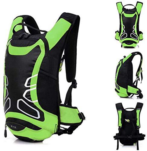 Zaino impermeabile per mountain bike, ciclismo, equitazione, corsa, campeggio, escursionismo, trekking, zaino zaino zaino a spalla (verde)