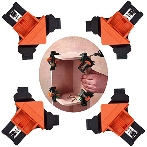 SWMIUSK 90 Degree Right Angle Clamp Adjustable Swing Corner Clamp,Clip Holding Corners for Welding,Wood-Working,Drilling,Making Cabinets,Boxes, Drawers,Picture Framing,Crafting Projects