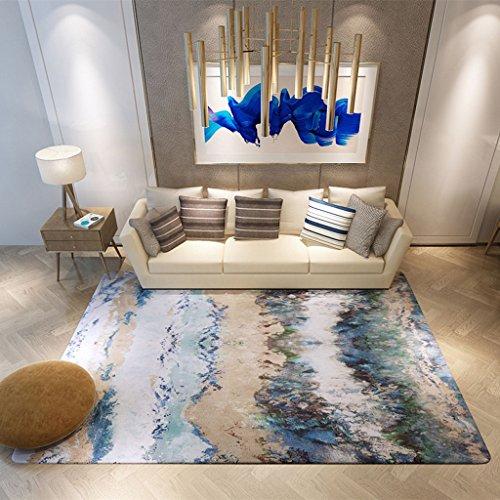 Young baby Nouveau Chinois Encre Abstraite Art Tapis Salon Tapis Café Tapis Chambre Canapé Tapis Nordic Tapis Moderne Maison (Size : 140 * 200cm)