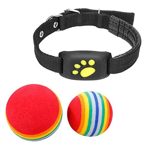 WFGF Rastreador de Mascotas - Collar Inteligente para Perros y Gatos con GPS - Cerca inalámbrica Collar para Perros y Gatos con GPS Control Remoto Impermeable Recargable con 2 Bolas de Arco Iris