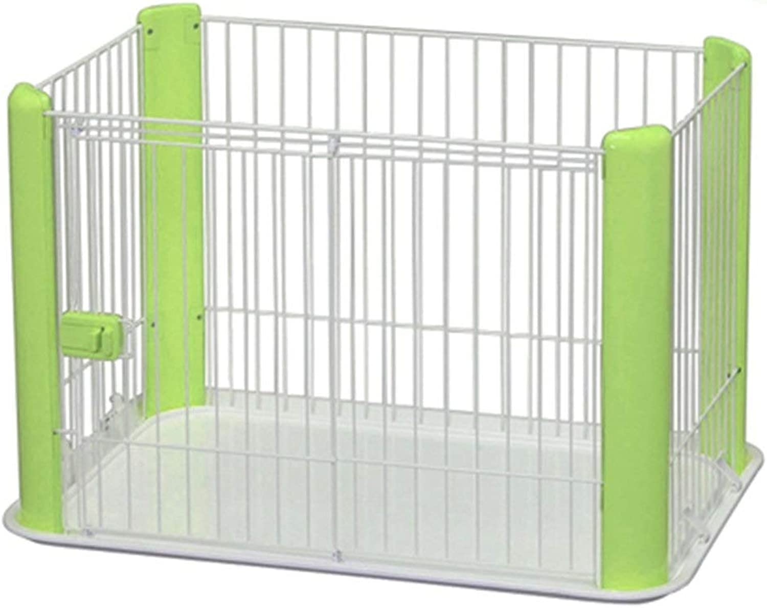 LJFYMX Puppy heavy puppy play pen Pet fence animal fence cage DIY practice pen box raise dog cage small animals, rabbits, rabbits, puppies and guinea pigs Puppy fence (color   Green)