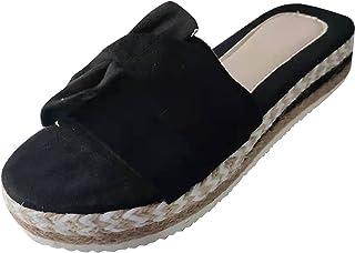 ZZXIAN Sandales Femme à Plateau Slip-on Été Claquettes Nu Pieds Semelle Compensée Confortable, Sandale Femme Talon Compensé