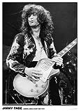 Cartel de Led Zeppelin, Jimmy Page en Earls Court, mayo de 1975, de 83 x 58 cm