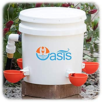 Oasis Chicken Waterer Kit Complete with Oasis Watering Cups, Bucket Float Valve and Drill Bits
