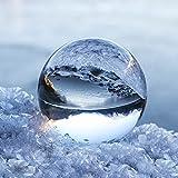 NinkBox Bola de Cristal K9, 100mm Bola de Cristal Fotografia con Soporte, Bola Cristal Transparente para Decoración, Meditación y Regalo