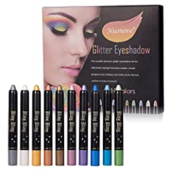 Idea Regalo - Eyeshadow Pencil, Stick Eyeshadow, Ombretto Penna, Set Ombretti Glitter, Palette Ombretti, Professionale Tavolozza Ombretti, Professional Colori Glitter Make Up Palette, 10 Colori