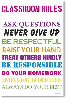 Classroom Rules #6 - NEW Classroom Motivational Poster