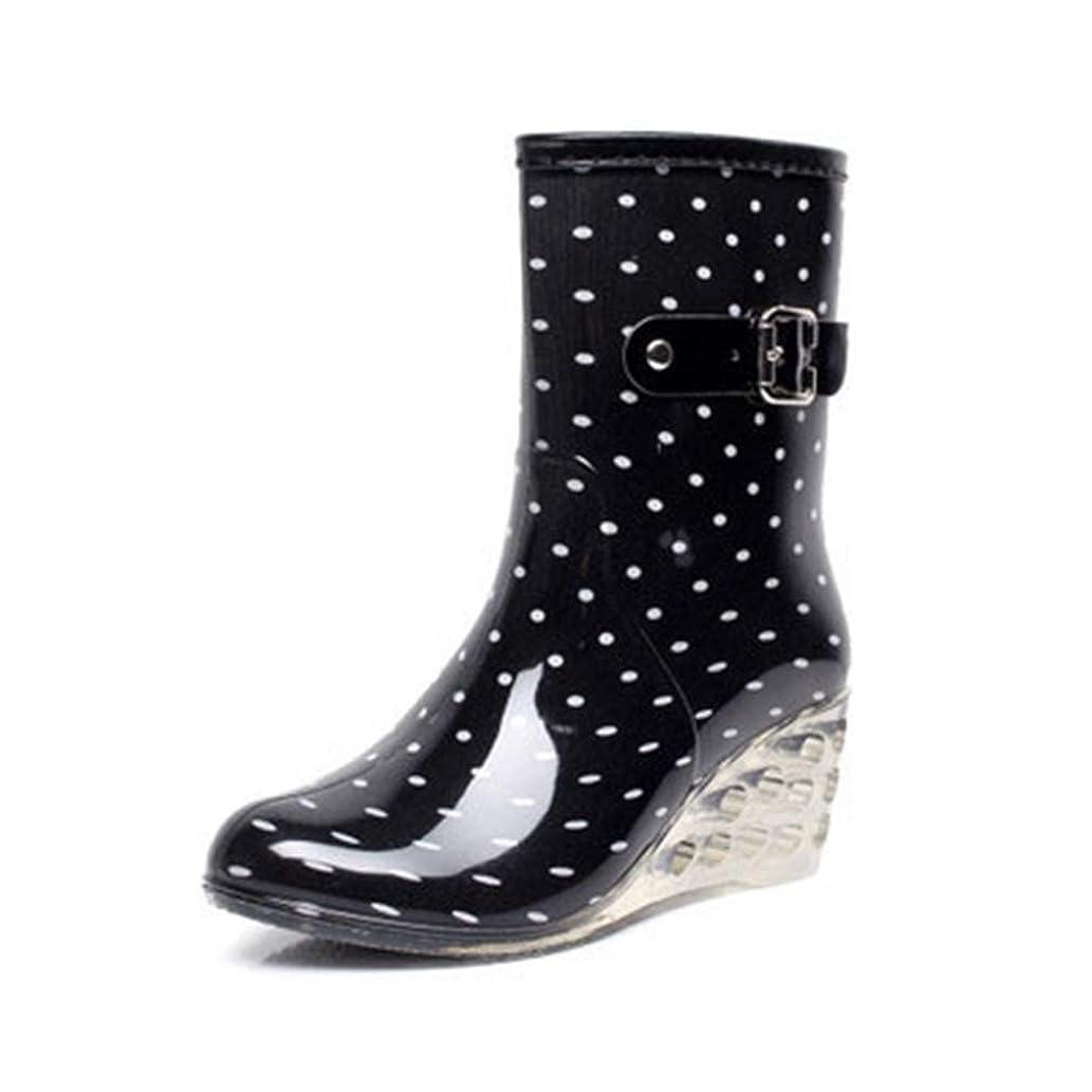 彼らは検索エンジン最適化シーンレインブーツ レディース レインシューズ ショートブーツ 防水 おしゃれ 梅雨 雨の日 美足 美脚 かわいい レインブーツ 透明 天然ゴム ウェッジソール レディース 長靴 ロング 長くつ 靴 ラバーブーツ 24.5cm[イノヤ]
