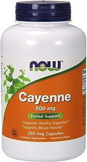 Cayena, salud vascular, 500 mg, 250 cápsulas - Now Foods