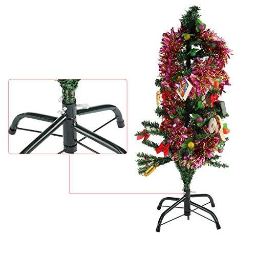 Masun Künstlicher Weihnachtsbaum-Ständer, 120 cm, Grün