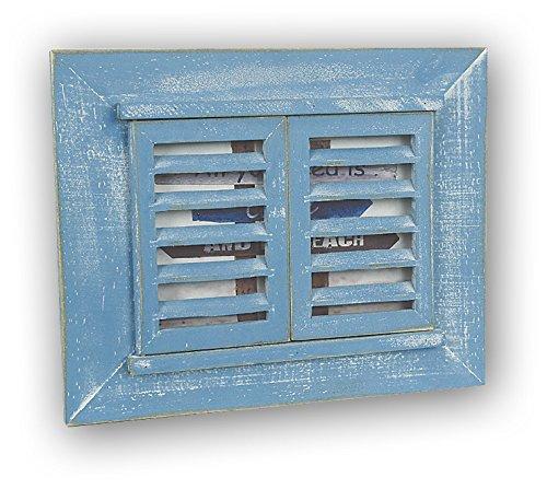 ZEP Varazze Blue - Portafotos de madera con forma de ventana tamaño 13x18