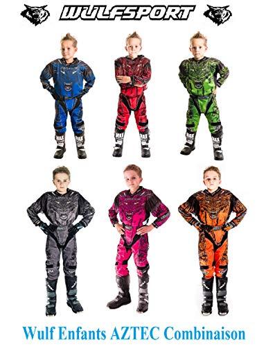 Moto Enfants Costume de Course Wulf Enfants Forte Costume Nouveau 2020 Hors Route Motocross Enduro ATV MX Sport Junior 2 Piece kit Combinaison Pantalons Maillot
