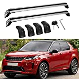 MotorFansClub Cross Bars Roof Racks Fit for Compatible with Land Rover LR Discovery Sport 2015-2020 2021,Luggage Crossbars Cargo Bag Carrier Aluminum Rooftop Set Carrying Kayak Bike Canoe