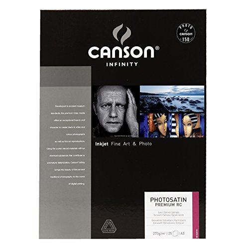 Caja A3, 25 Hojas, Canson Infinity PhotoSatin Premium RC 270g
