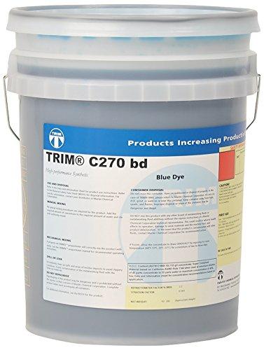 TRIM Cutting & Grinding Fluids C270BD/5 High Performance Synthetic Coolant, Blue Dye, 5 gal Pail
