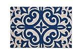 Excelsa Maioliche Zerbino Ingresso, Fibra di Cocco, Blu, 40 x 60 cm...
