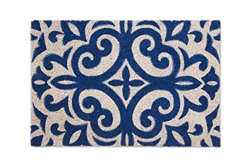 Excelsa Maioliche Fußmatte, Kokosfaser, Blau, 40 x 60 cm