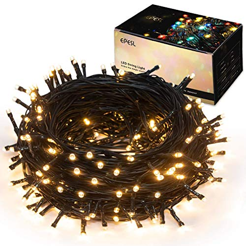 EPESL Christmas String Lights 32M / 105ft 320 LEDs 8 Modes Memory Function End to End Expandable Waterproof IP44 Outdoor Indoor Fairy Light Decoration for Tree Patio Home Festival Wedding (Warm white)