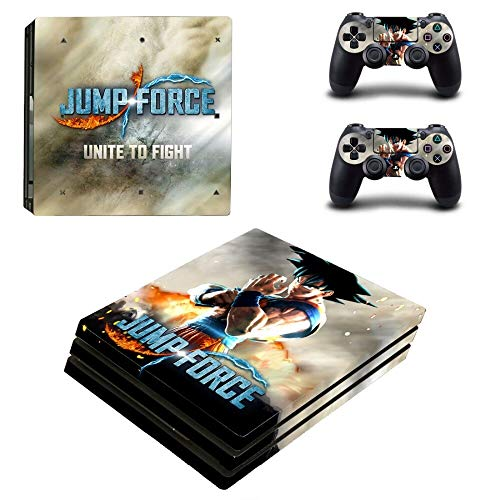 FENGLING Juego Jump Force One Piece Ps4 Pro Skin Sticker para Playstation 4 Consola y Controladores Ps4 Pro Skin Sticker Decal Vinilo