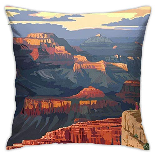 Grand Canyon National Park - Mather Point Soft Square Throw Pillow Covers Cushion Case 45X45CM