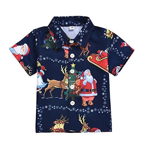 NOBRAND 1-6 años Camiseta de Navidad Camiseta de algodón Camiseta Infantil Ropa Disfraz para niños Tops