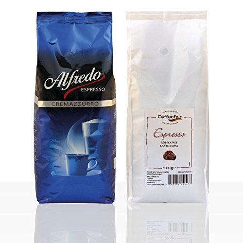 Darboven Alfredo Cremazzurro Espresso 6 x 1kg + Coffeefair Espresso 1kg