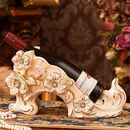 LXD Estantes de Vino, Cerámica Creativa Moda Moderna Moda Simple Vinoteca Decoración Sala de Estar Restaurante Cocina Hogar Práctico
