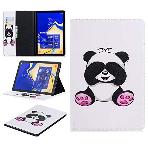King phone Compatible with Samsung Galaxy Tab S4 SM-T830N/T835N 10.5 inch Premium Vogue Patterns PU Leather Smart Folio Case Shell Wallet Slim Stand Protective Cover - Panda 2