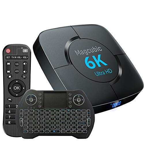 TV Box Android 10.0 4 GB RAM 64 GB ROM Supporto Dual WiFi 2.4 G 5 G Compatibile con 6 K 4 K Ultra HD H.265 3D Allwinner H616 Quad-Core Bluetooth 4.1 Smart TV Box con Mini Tastiera