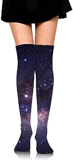 Galaxy Starry Night Women's Over Knee Thigh Socks Girl High Boot Stockings Leg Warmer