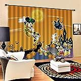 lubenwei Cortinas Opacas - Impresión 3D Dibujos Animados de Mickey Minnie Mouse - Cortinas con Ojales - Reducción De Ruido De Aislamiento,166(H) x75(An) Cmx2 Paneles/Set (A-486)