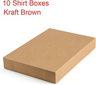 ValBox Kraft Shirt Gift Boxes 10 Pack Brown Large Paper Gift Boxes with Lids for Birthtday, Baby Shower, Wedding, Christmas, Easy Assemble Boxes, 14.25 x 9.5 x 1.8 Inches