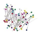 joyMerit 100 Piezas de Alfileres de Costura con Cabeza de Perla de Colores Surtidos para Sastres, Confección Y Decoración de Ramo de Boda